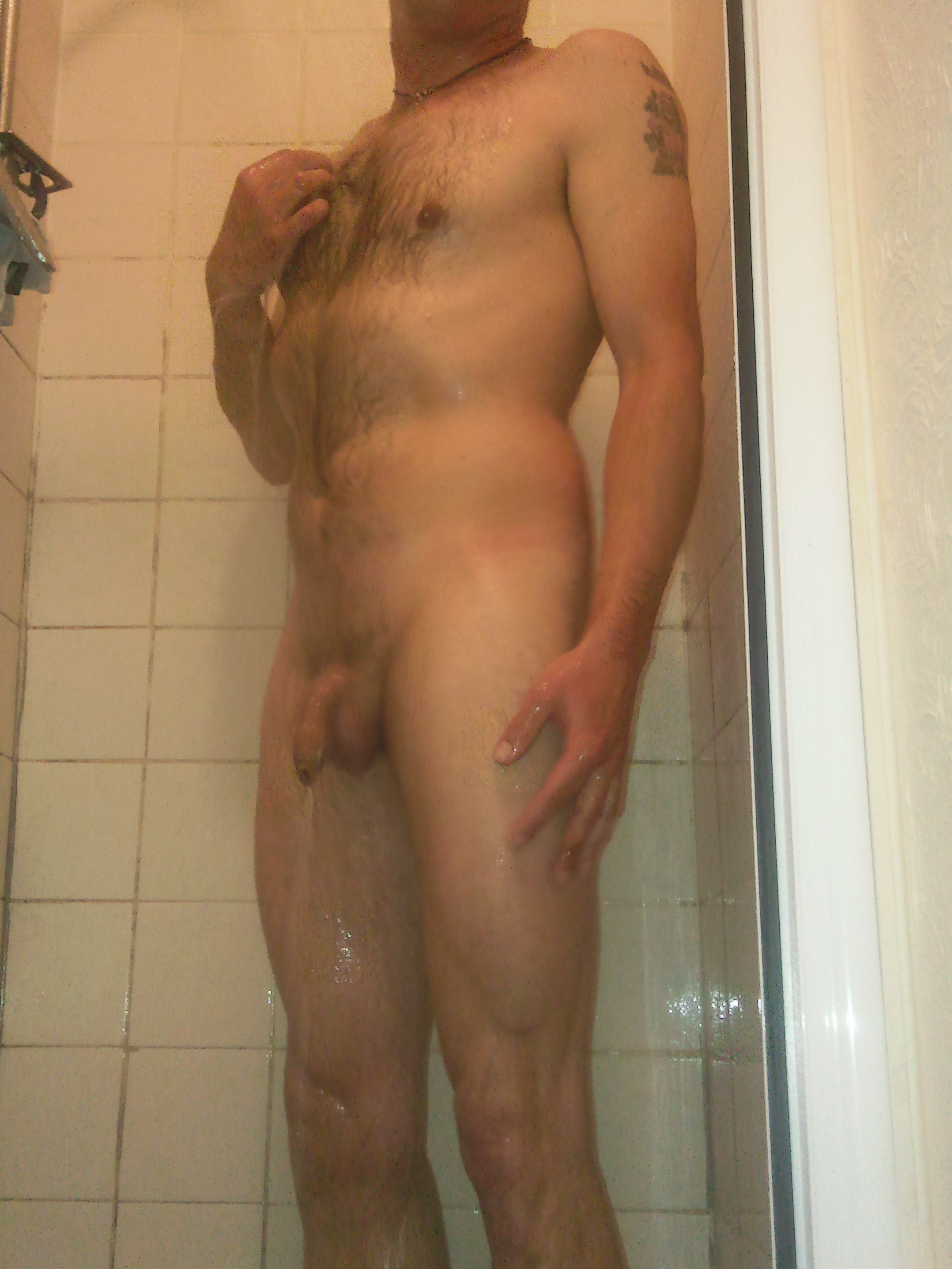 Having a cold shower