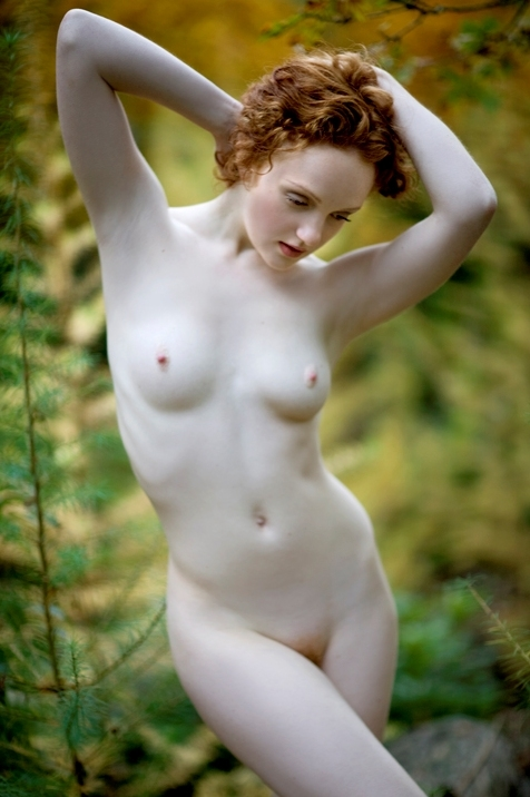 Pale skin redhead outdoor