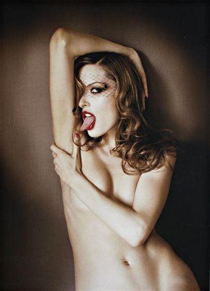 "David LaChapelle , American "" Rie Rasmussen: The Tongue"", 2002"