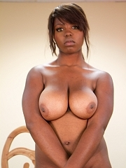 Ebony Plump Girl With Big Black Boobs Undressing And Holding Her Breasts – Boobs Palace