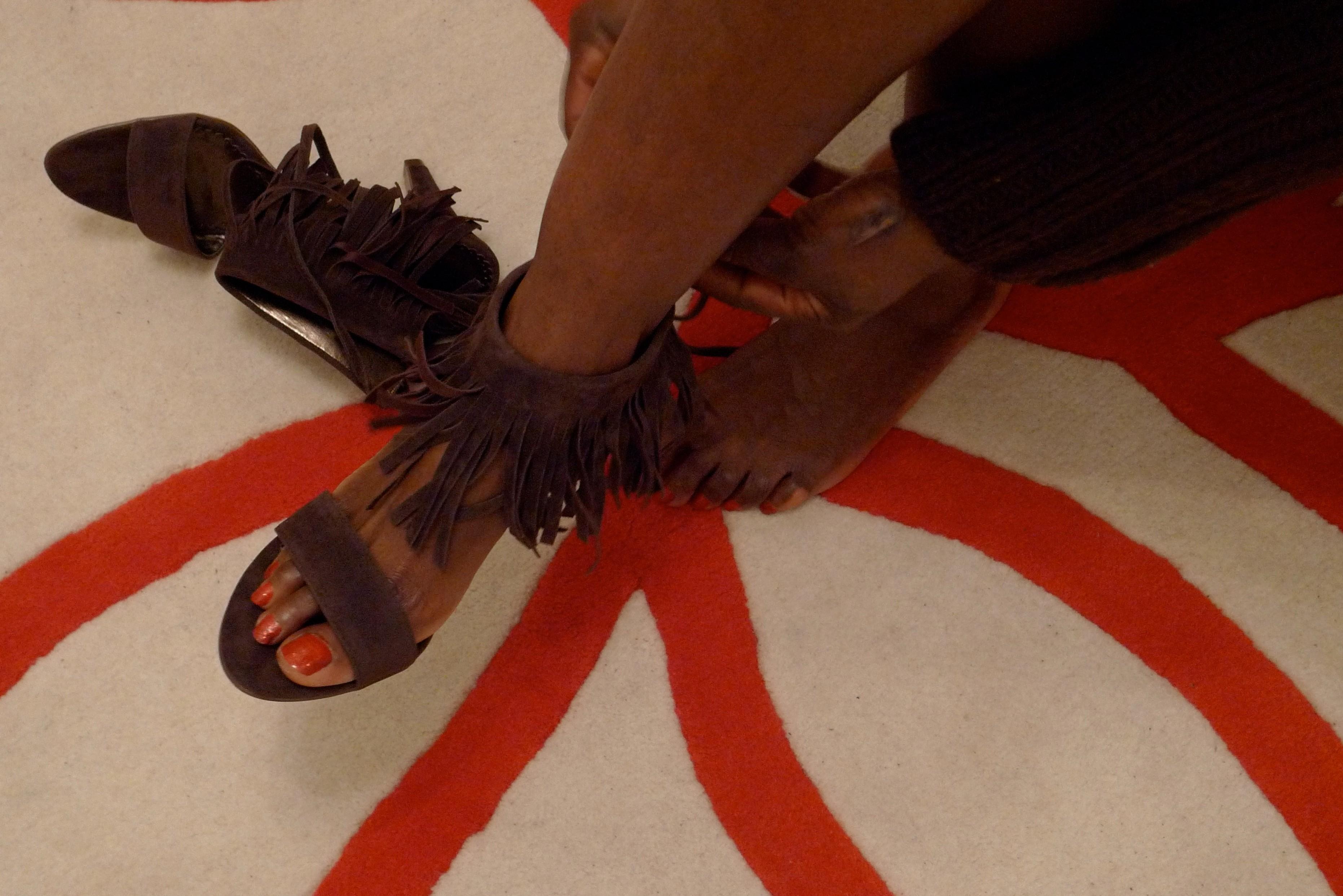 Putting on new heels