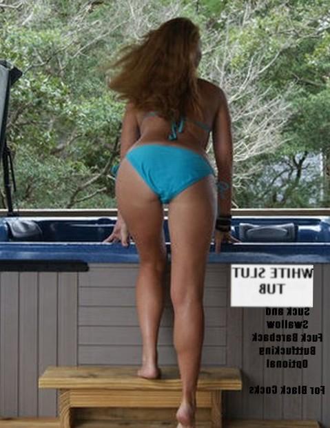 Interracial Slut Hot Tub