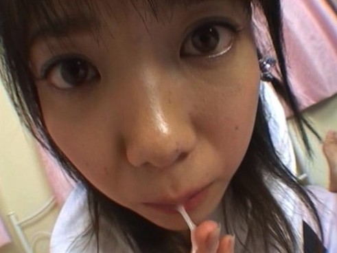 Japanese GF eating cum