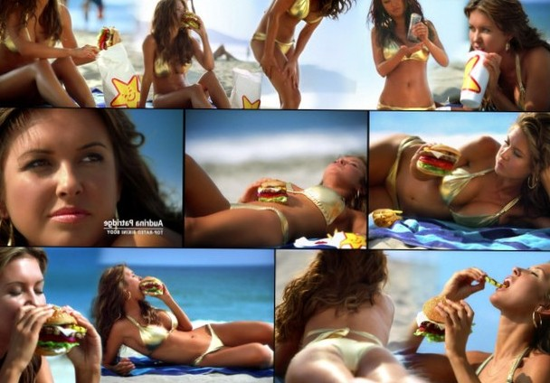 Audrina Partride eating a burger