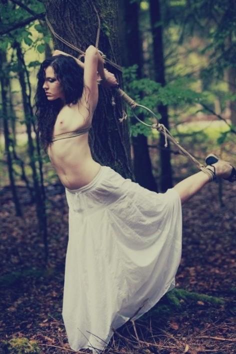 #rope #tied #heels #public