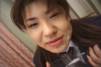 Cum Eating Bukkake with Asian Girls Drinking Tons of Semen and Sperm