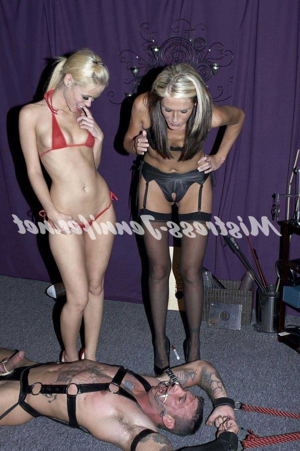 Mistress Jennifer and Friends femdom, mistresses, ball busting, face sitting strapon, cuckold, whipping