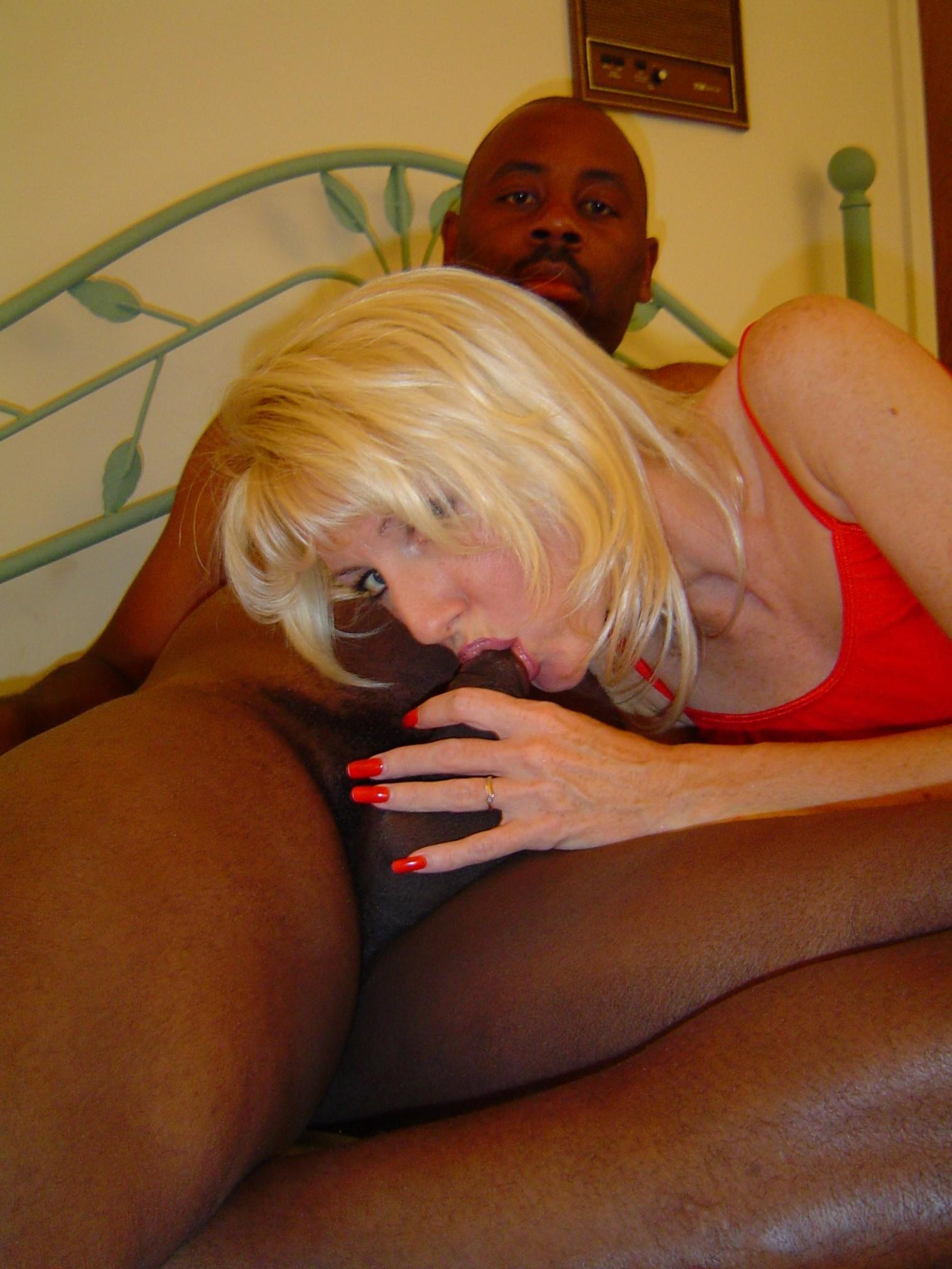 blonde whore sucking