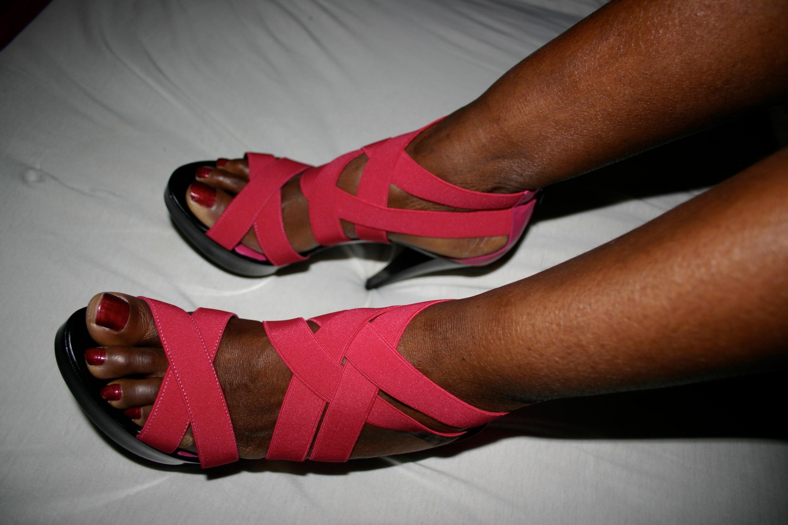Her latest fuck heels II
