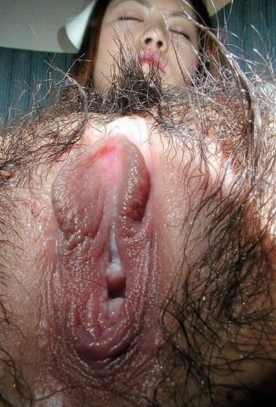 hairy wet asian pussy